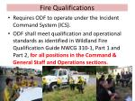 fire qualifications