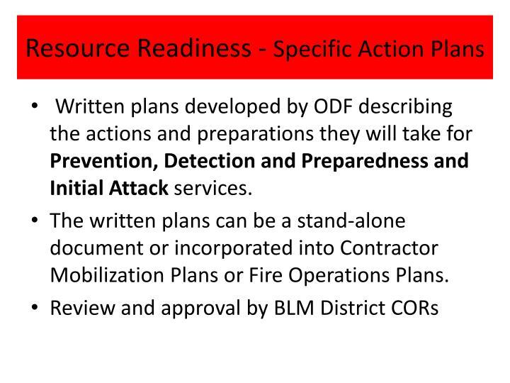 Resource Readiness -