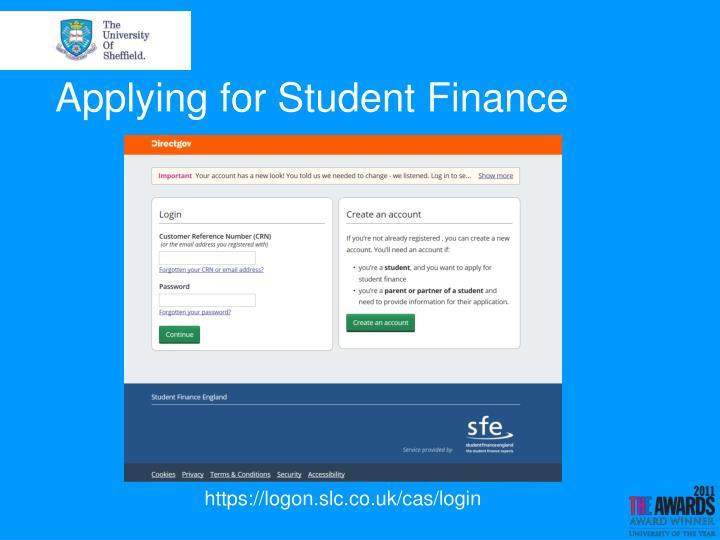 Applying for Student Finance