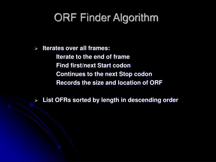 ORF Finder Algorithm