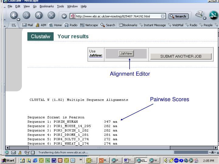 Alignment Editor