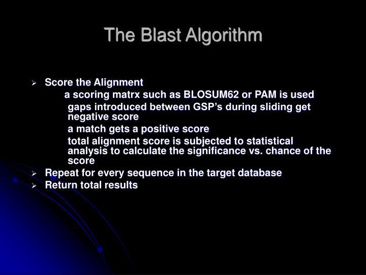 The Blast Algorithm