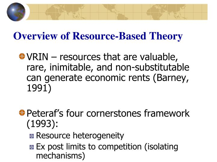 Overview of Resource-Based Theory