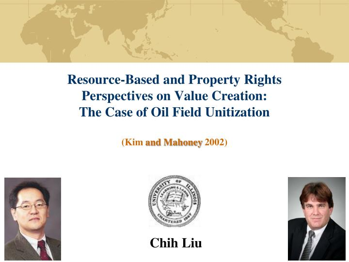Resource-Based and Property Rights