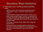 hazardous waste definition