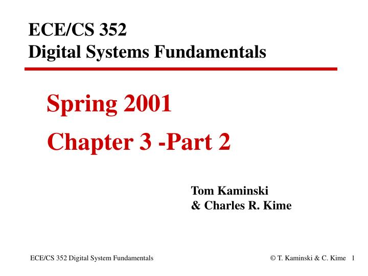 Ece cs 352 digital systems fundamentals