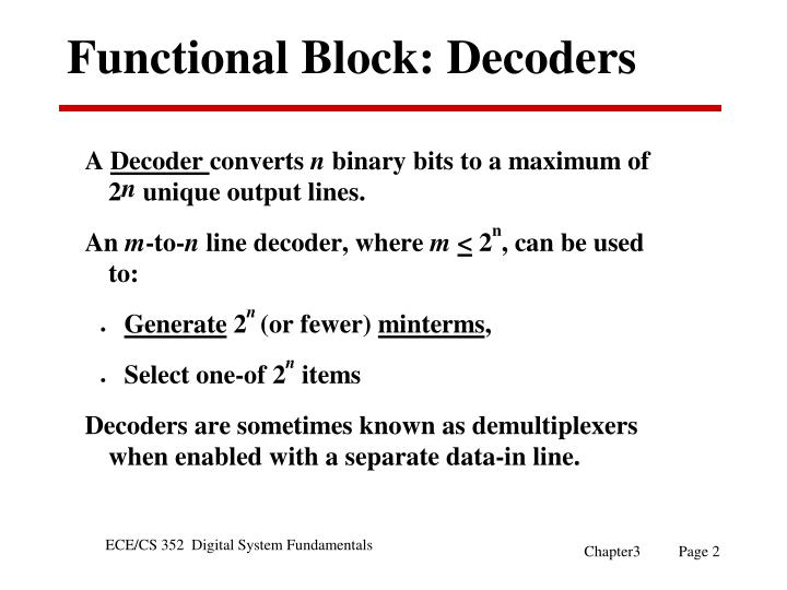 Functional Block: Decoders