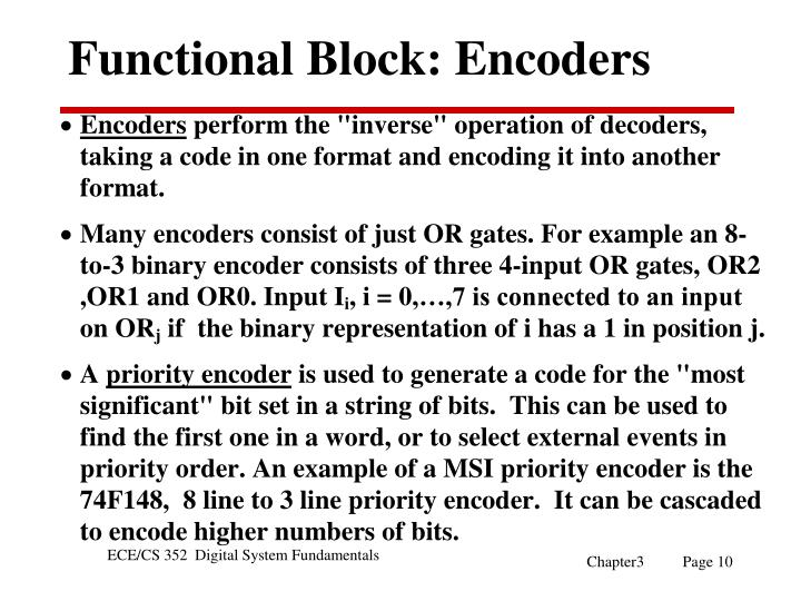 Functional Block: Encoders