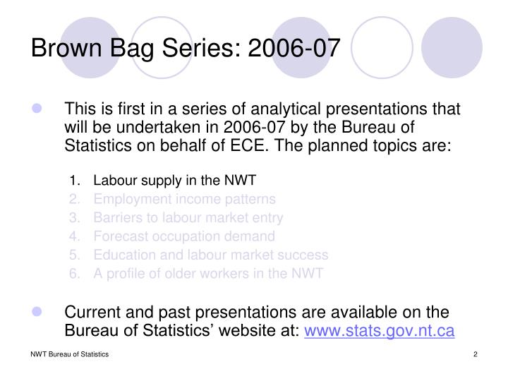 Brown Bag Series: 2006-07