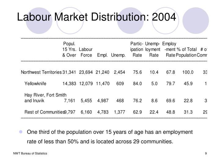 Labour Market Distribution: 2004