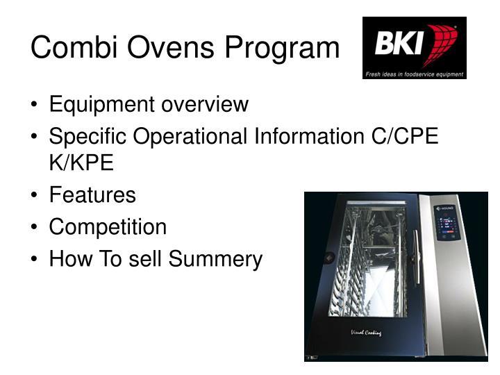 Combi Ovens Program