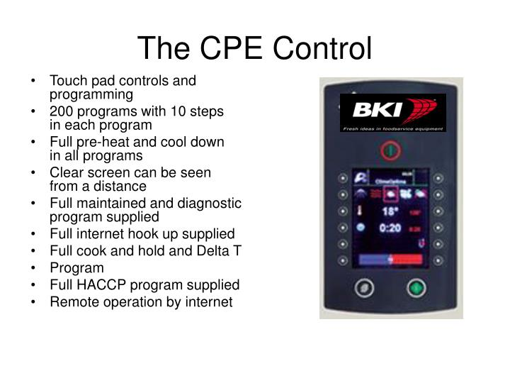 The CPE Control