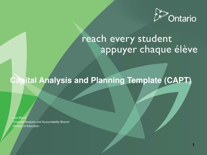 capital analysis and planning template capt