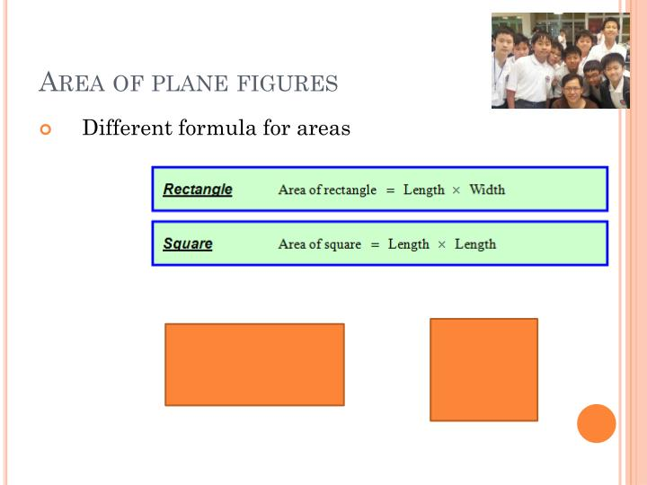 Area of plane figures