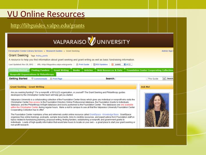 VU Online Resources