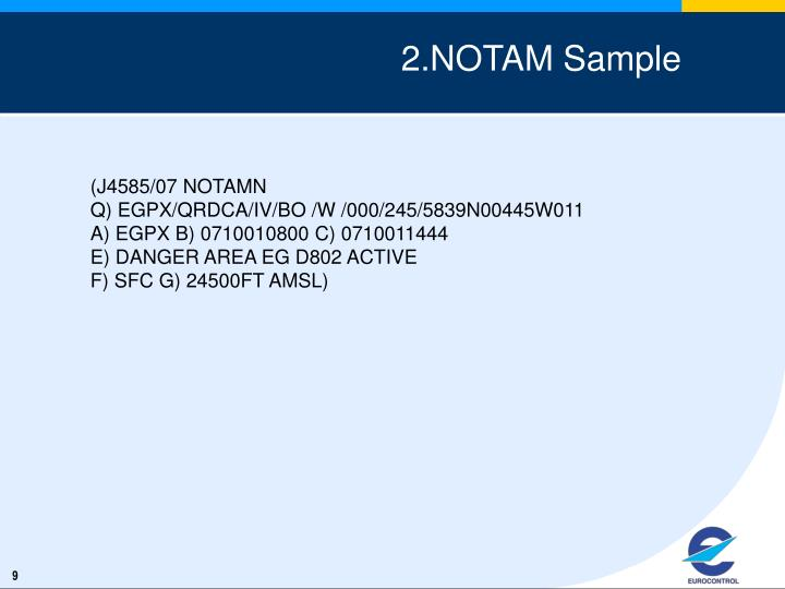2.NOTAM Sample