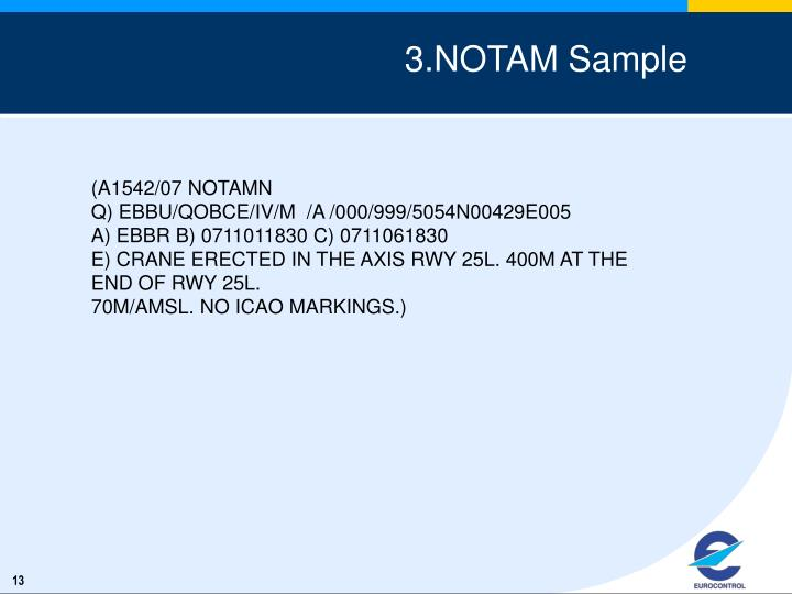 3.NOTAM Sample