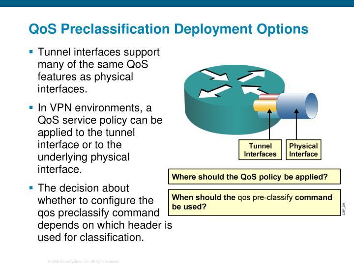 QoS Preclassification Deployment Options