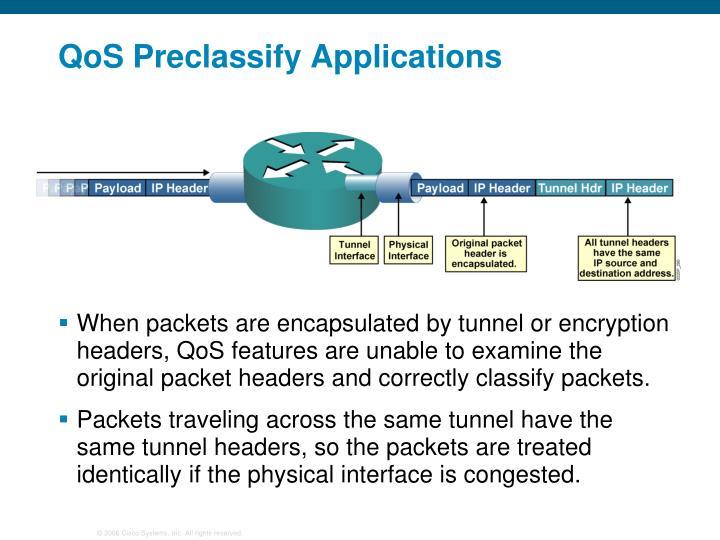 QoS Preclassify Applications