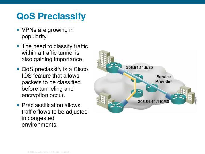 QoS Preclassify