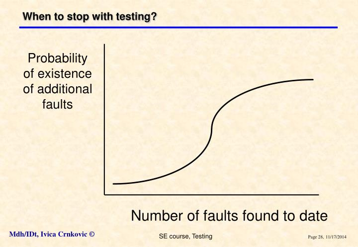 When to stop with testing?