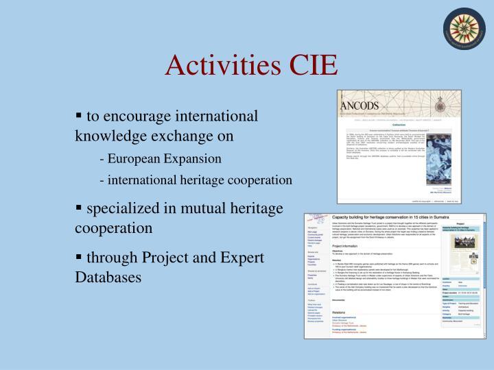 Activities CIE