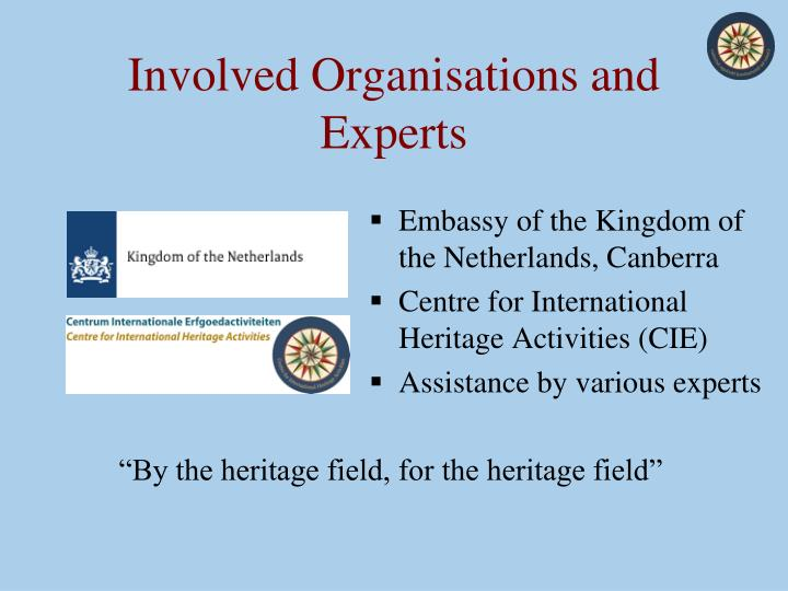 Involved organisations and experts