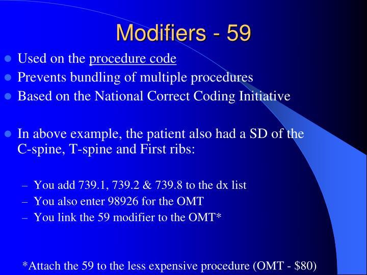 Modifiers - 59