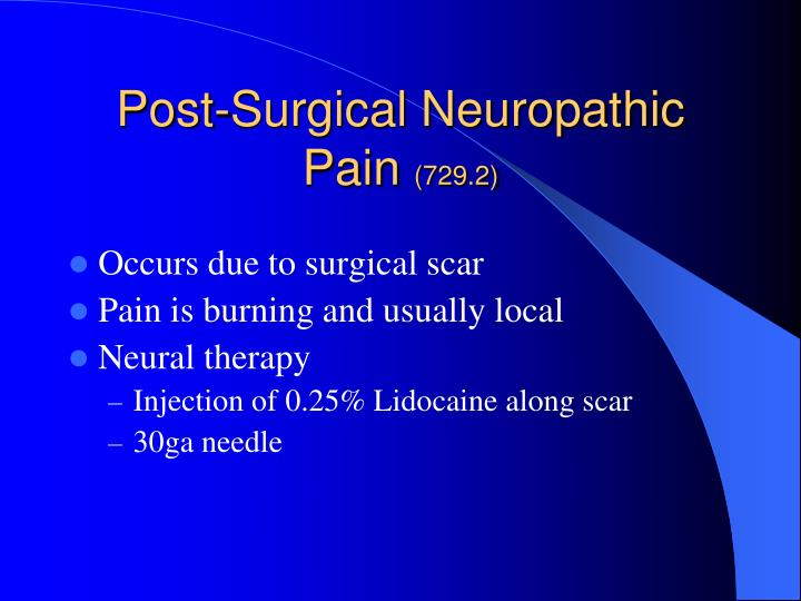 Post-Surgical Neuropathic Pain
