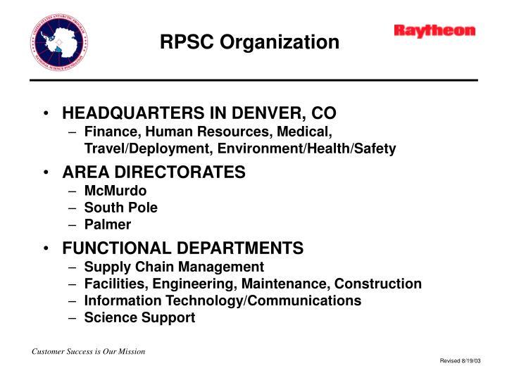 RPSC Organization