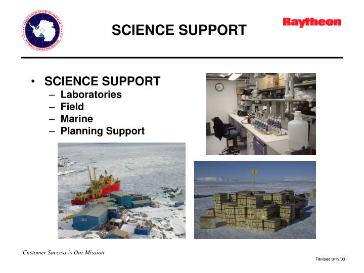SCIENCE SUPPORT