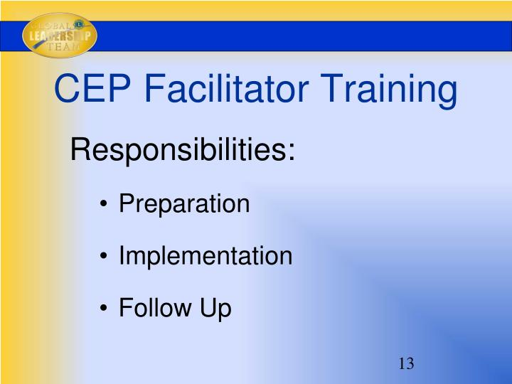 CEP Facilitator Training