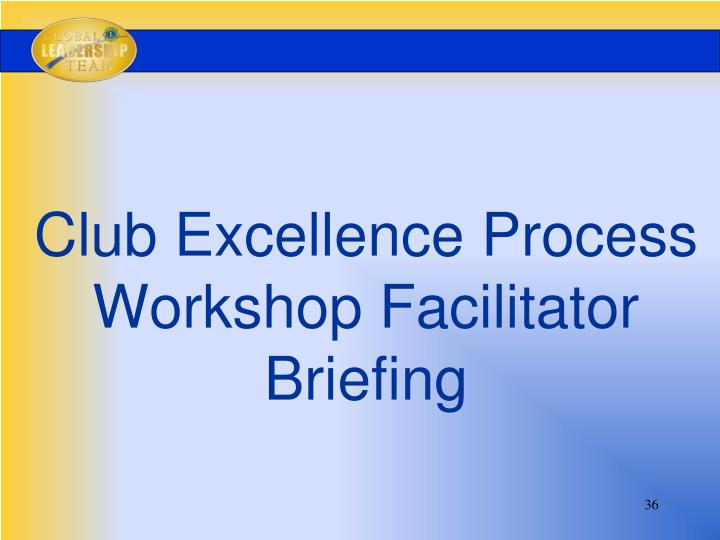 Club Excellence Process