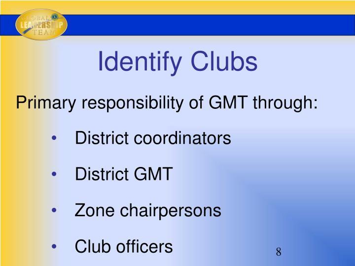 Identify Clubs