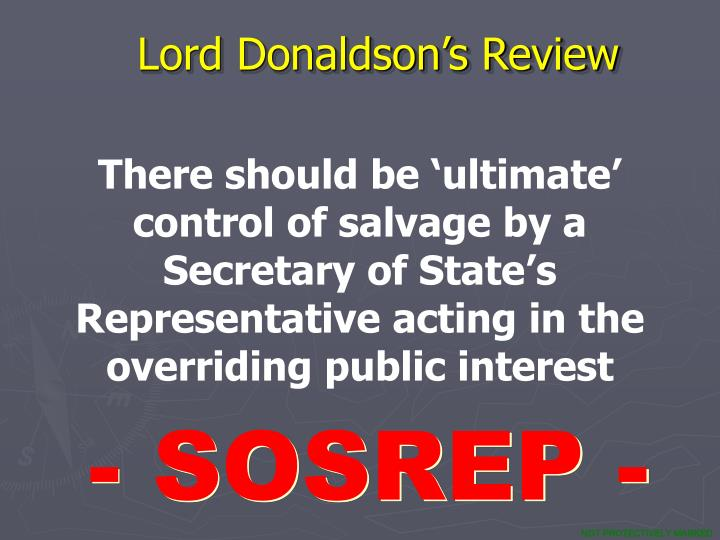 Lord Donaldson's Review