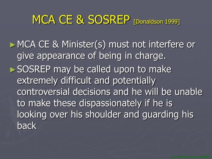 MCA CE & SOSREP