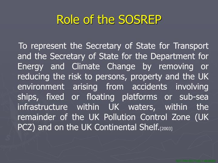 Role of the SOSREP