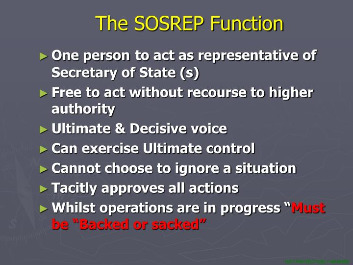 The SOSREP Function