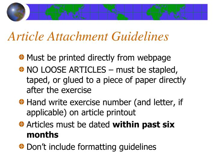 Article Attachment Guidelines