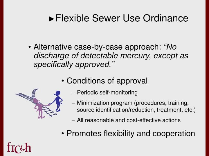 Flexible Sewer Use Ordinance
