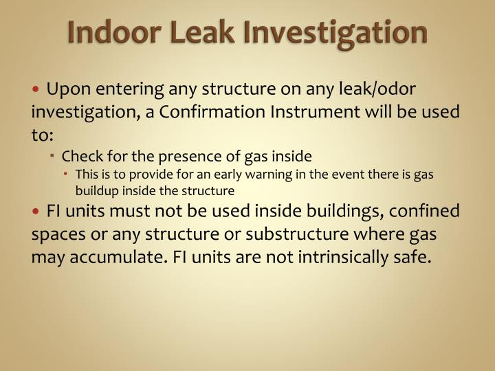 Indoor Leak Investigation