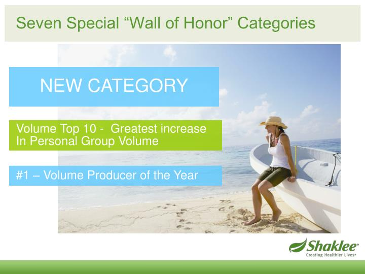 """Seven Special """"Wall of Honor"""" Categories"""