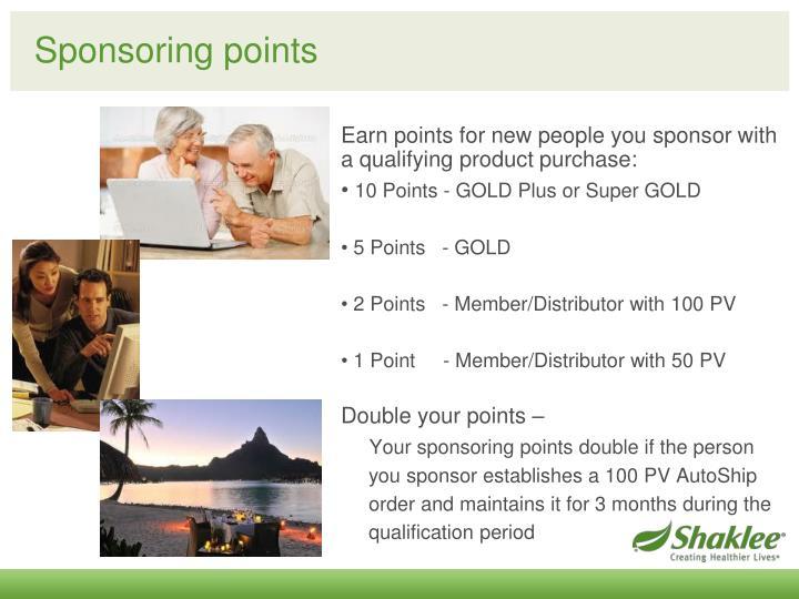 Sponsoring points