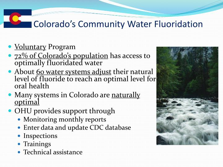 Colorado's Community Water Fluoridation