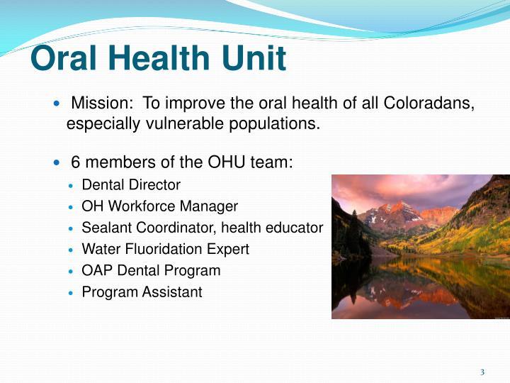 Oral Health Unit