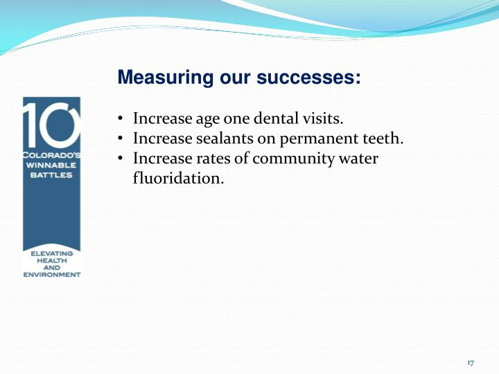 Measuring our successes: