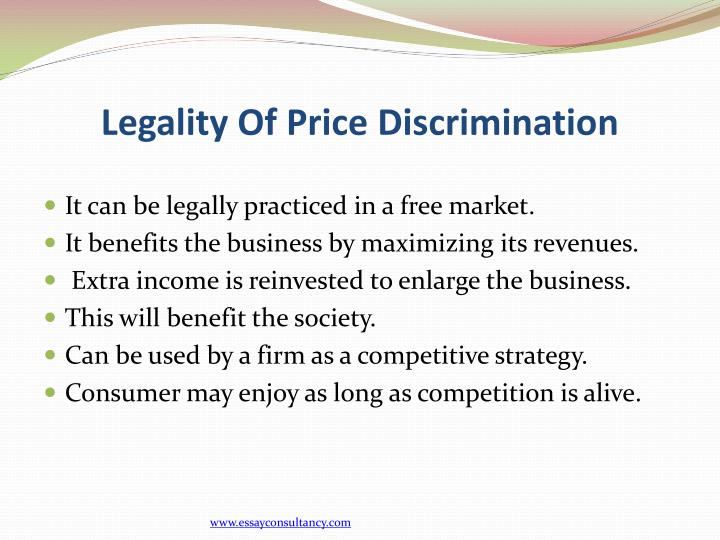 Legality Of Price Discrimination