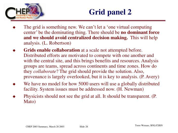 Grid panel 2