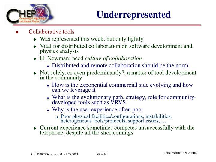 Underrepresented