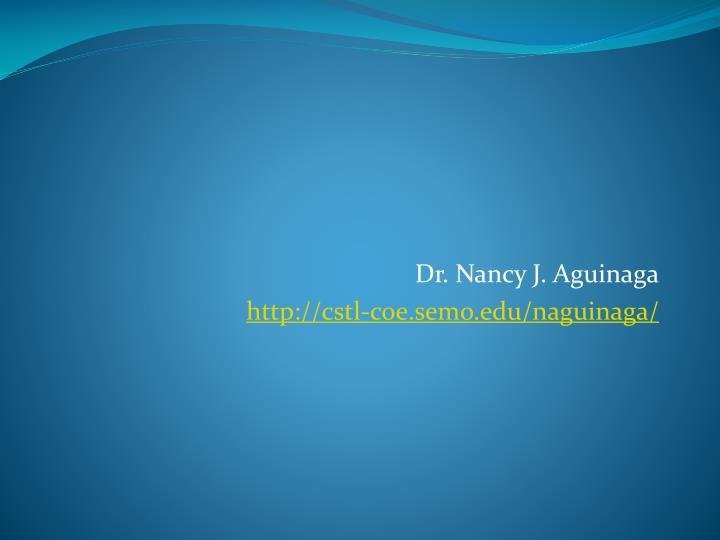 Dr. Nancy J. Aguinaga